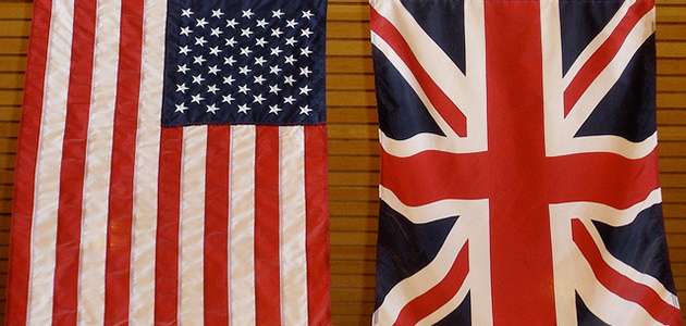 Union Jack und Star-Spangled Banner